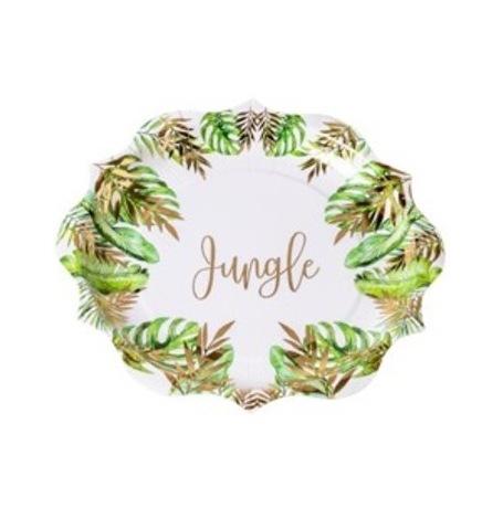 Assiettes en carton Tropical Jungle (x4)| Hollyparty