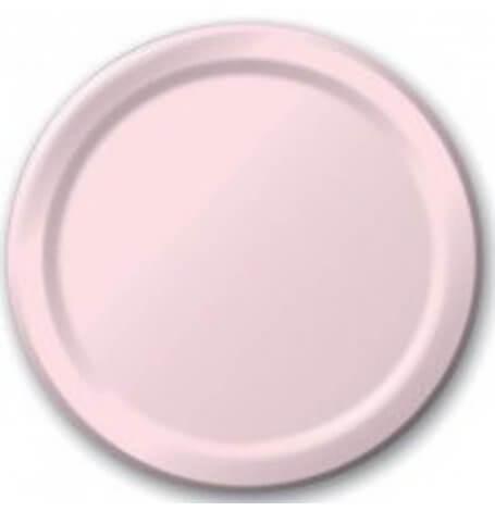 Assiettes en carton Uni Rose Pastel (x8)| Hollyparty