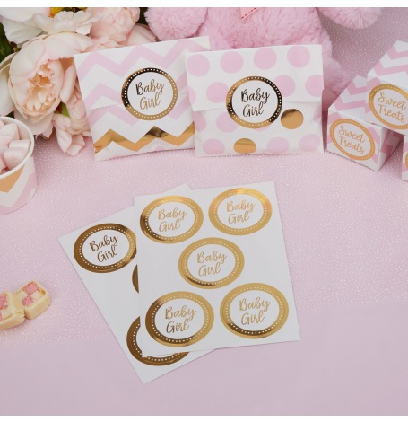 Autocollants Stickers Baby Girl (x25)| Hollyparty