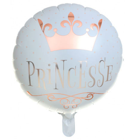 Ballon Alu Princesse Rose Gold 45 cm | Hollyparty