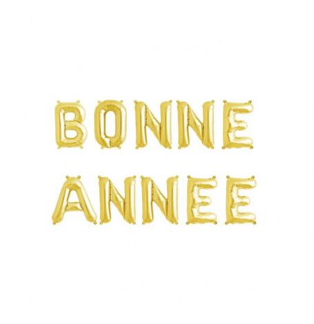 Ballon Aluminium Happy New Year Doré| Hollyparty