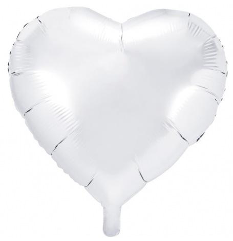 Ballon Cœur Mylar Aluminium Blanc | Hollyparty