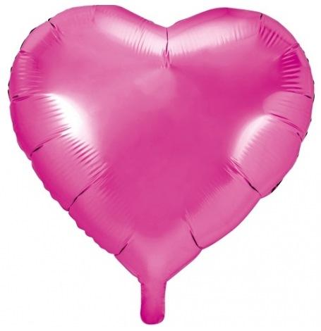 Ballon Cœur Mylar Aluminium Rose Fuchsia | Hollyparty
