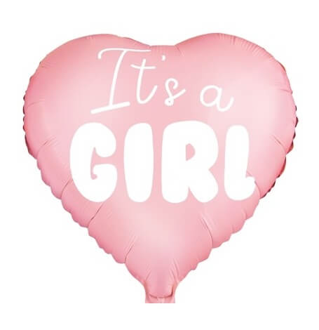 Ballon Coeur Mylar Aluminium It's a Girl| Hollyparty