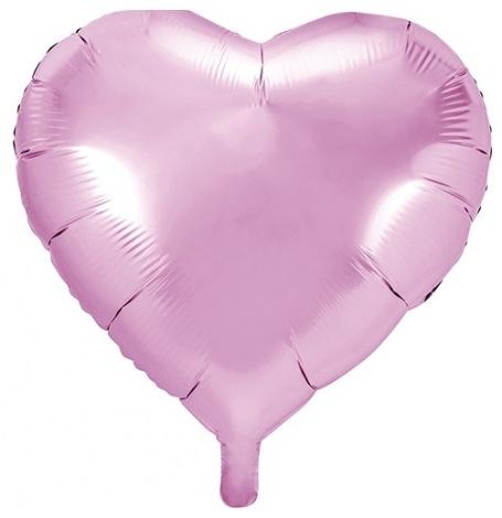 Ballon Coeur Mylar Aluminium Rose Pastel| Hollyparty