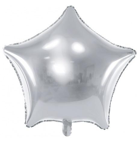 Ballon Etoile Mylar Aluminium Argent   Hollyparty