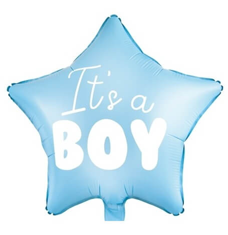 Ballon Etoile Mylar Aluminium  It's a Boy | Hollyparty