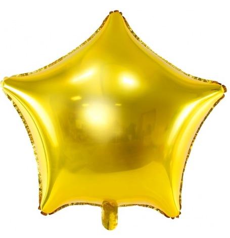 Ballon Etoile Mylar Aluminium Or| Hollyparty