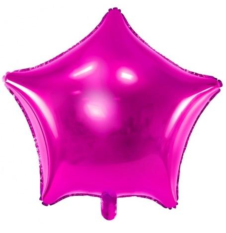 Ballon Etoile Mylar Aluminium Rose Fuchsia| Hollyparty