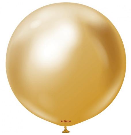 Ballon Latex Or Chromé Or  Hollyparty