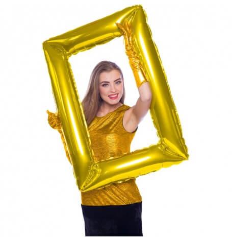 Ballon Mylar Aluminium Cadre Photobooth Doré| Hollyparty