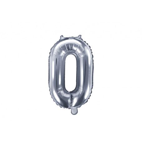 Ballon Mylar Aluminium Chiffre Argent 35 cm| Hollyparty