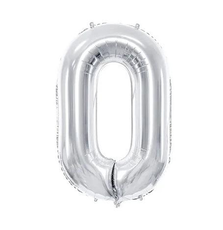 Ballon Mylar Aluminium Chiffre Argent Anniversaire 86 cm  Hollyparty