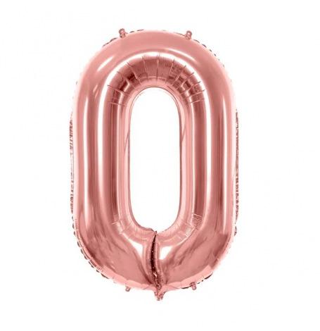Ballon Mylar Aluminium chiffre Rose Gold 86 cm (Géant) - A CHOISIR (VENDU A L'UNITE)| Hollyparty