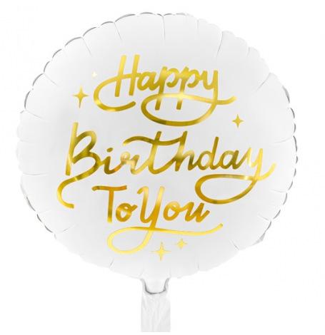 Ballon Mylar Aluminium Happy Birthday to You  35 cm| Hollyparty