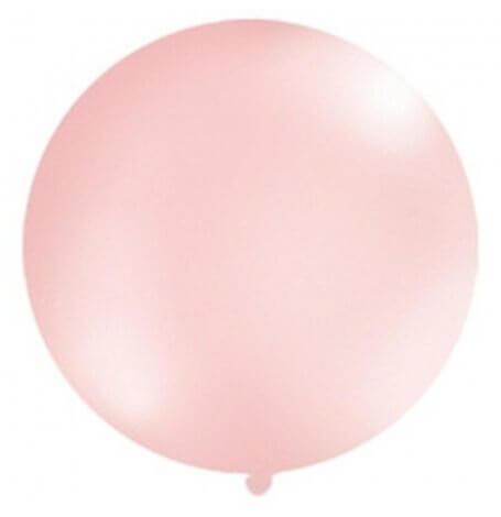Ballon Rond Géant Rose Clair Brillant| Hollyparty