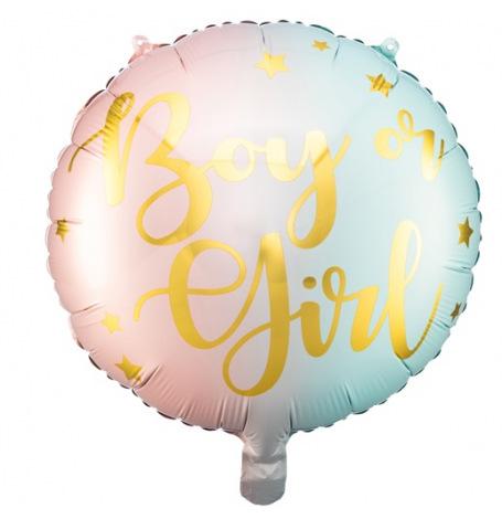 Ballon Rond Mylar Boy or Girl | Hollyparty