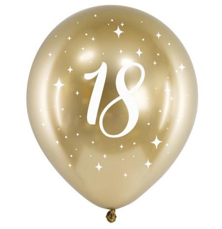 Ballons Anniversaire 18 ans Or Chromé   Hollyparty