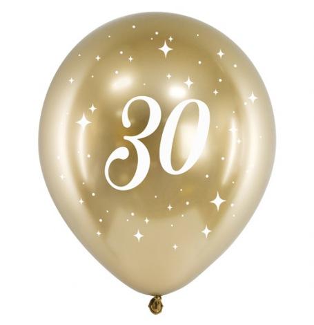 Ballons Anniversaire 30 ans Or Chromé   Hollyparty