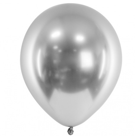 Ballons Argent Chromé (x5) - Latex| Hollyparty