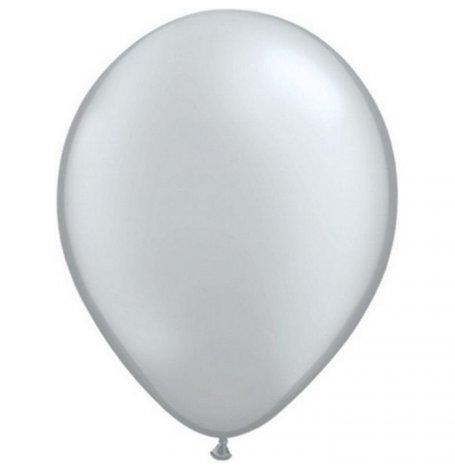 Ballons de baudruche Biodégradable Argenté (x5)  Hollyparty