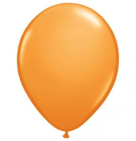 Ballons de baudruche Biodégradable Orange (x5) | Hollyparty