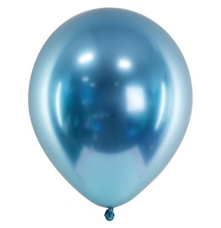 Ballons de baudruche Chromé Bleu (x5)| Hollyparty
