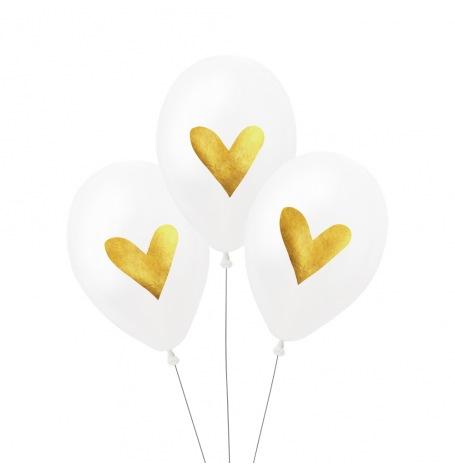 Ballons de baudruche Coeurs doré (x3)| Hollyparty