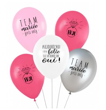 Ballons de baudruche EVJF (x5)| Hollyparty