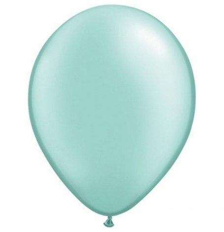 Ballons de baudruche Latex Vert d'Eau Métallisé (x10)| Hollyparty