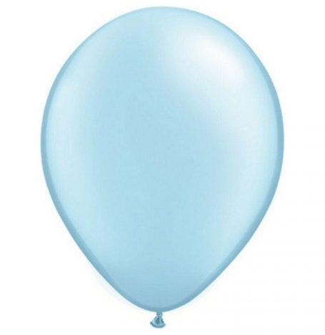 Ballons de baudruche Métallisé Bleu Clair (x5)| Hollyparty