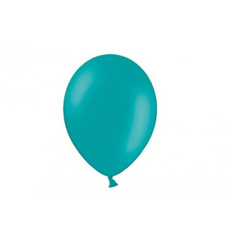 Ballons de baudruche mini Bleu Lagon Latex (x10)| Hollyparty