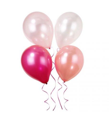 Ballons de baudruche Mix Rose métallisé (x9)| Hollyparty