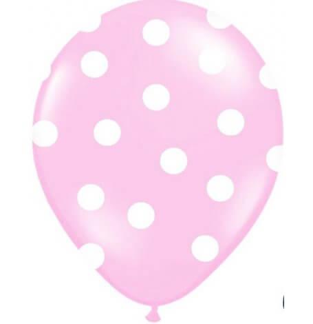 Ballons de baudruche à pois Rose Pastel (x5)| Hollyparty