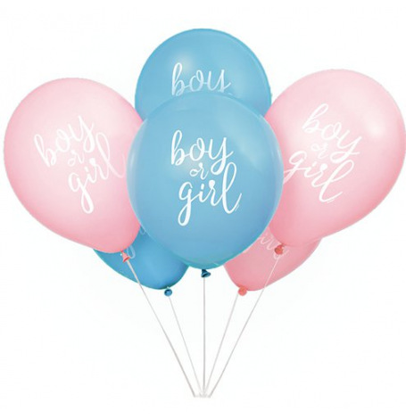 Ballons Gender Reveal Boy or Girl ? (x8)| Hollyparty