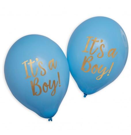 Ballons It's a Boy Bleu et Or (x4)| Hollyparty