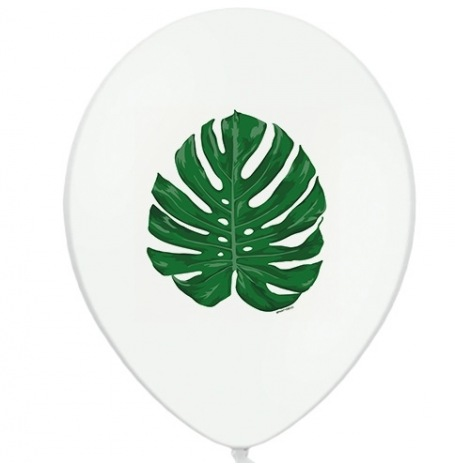 Ballons latex Feuillage Tropical Aloha (x6)  Hollyparty