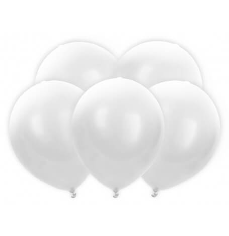 Ballons lumineux LED Biodégradable Blanc (x5)| Hollyparty