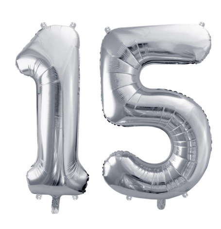 Ballons Mylar Aluminium 15 ans Argent | Hollyparty