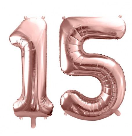 Ballons Mylar Aluminium 15 ans Rose Gold | Hollyparty