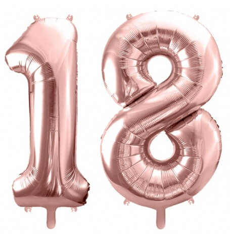 Ballons Mylar Aluminium 18 ans Rose Gold  | Hollyparty