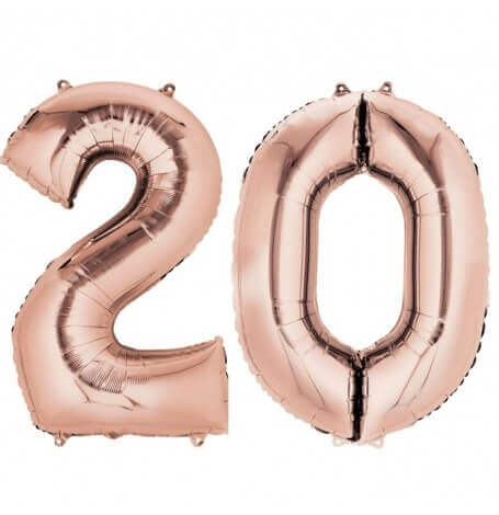 Ballons Mylar Aluminium 20 ans Rose Gold | Hollyparty