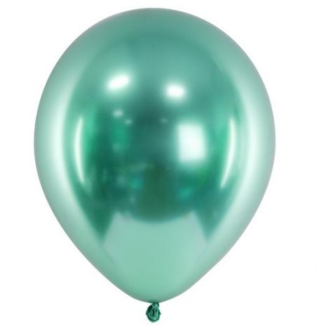 Ballons Vert Bouteille Chromé (x5) - Latex| Hollyparty