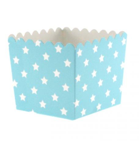 Boîtes à bonbon Bleu Motif Etoiles (x6)| Hollyparty