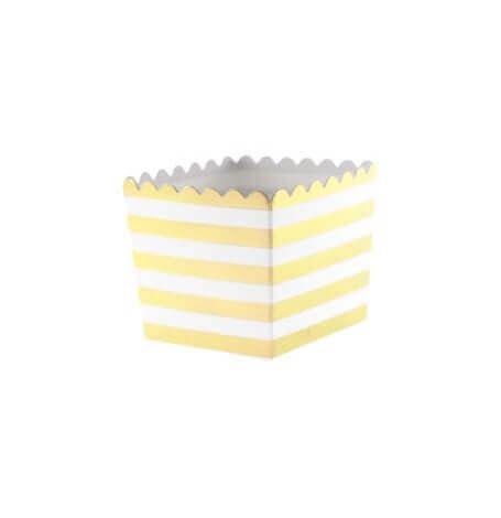 Boîtes à bonbon Rayure Or Métallisé (x6)  Hollyparty