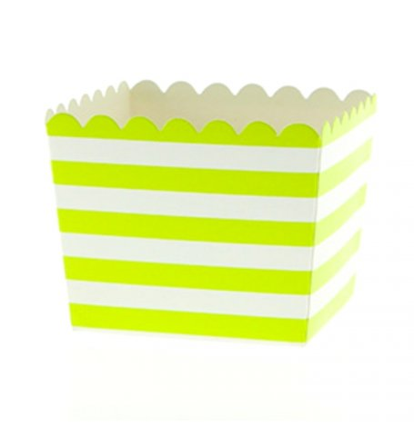 Boîtes à Bonbon Rayure Verte (x6) | Hollyparty