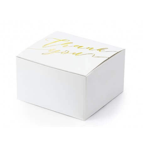Boîtes à dragées Thank You Doré (x10)| Hollyparty