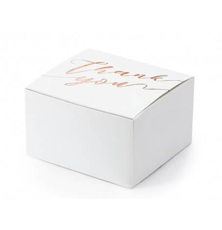 Boîtes à dragées Thank You Rose Gold (x10)| Hollyparty