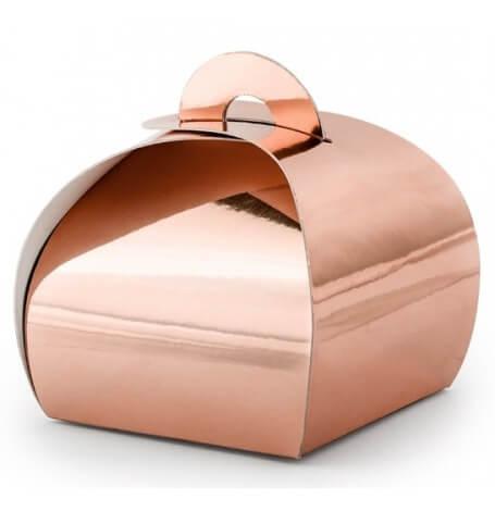 Boîtes à dragées Uni Rose Gold Métallisé (x10)| Hollyparty