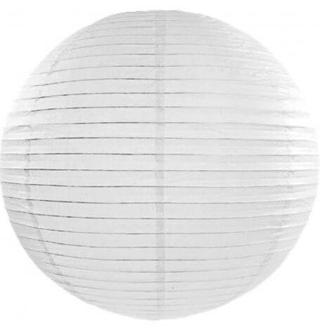 Boule japonaise en papier Blanc à suspendre | Hollyparty